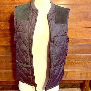 Polo Ralph Lauren Quilted Vest w/ Suede patches